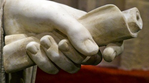 Hand With Scroll Statue