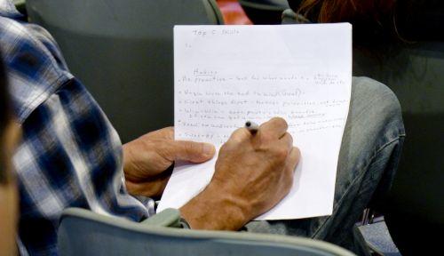 rašymas, ranka, Pastabos, seminaras, dėmesio, mokymasis, rankų rašymas