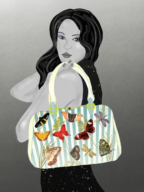 handbag model fashion