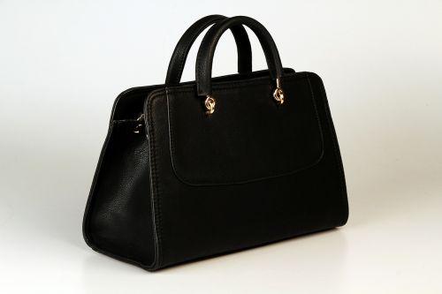 handbag black gold