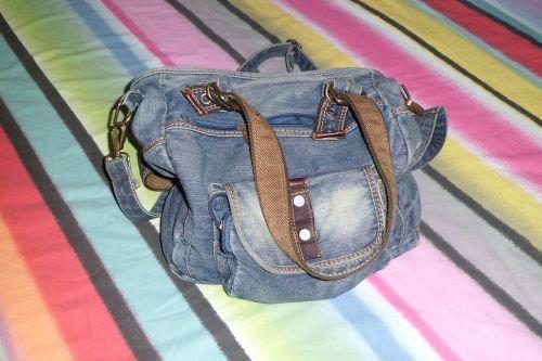 handbag jean backpack