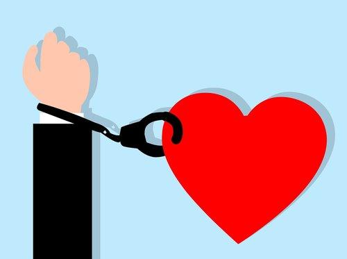handcuff  heart  love