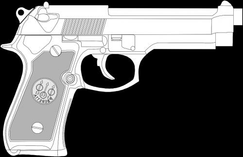 handgun pistol revolver