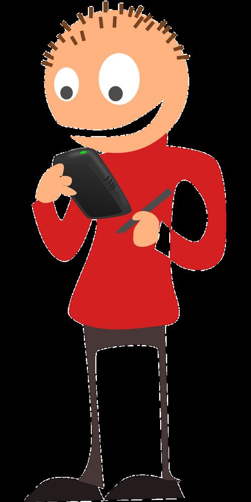 handheld smartphone man