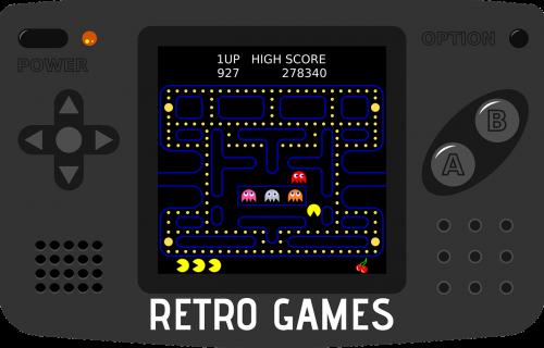 handheld game console pac-man arcade