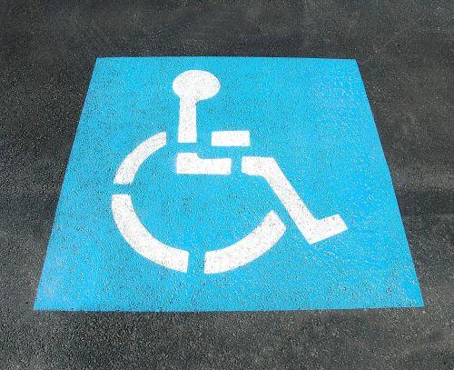 handicap parking sign painted