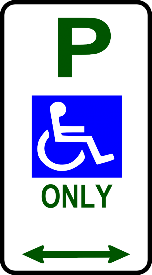 handicapped only parking disability