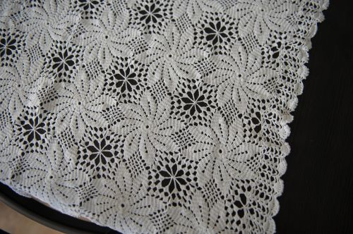 handicraft tablecloth crochet hook