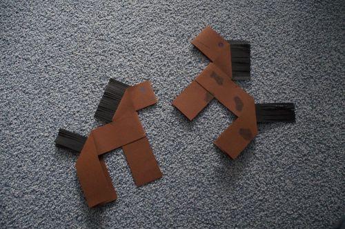handicraft origami horses