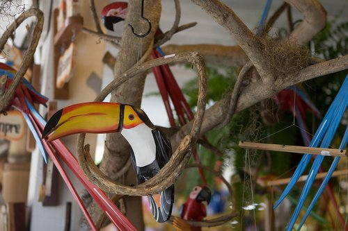 handicraft  toucan  brazil