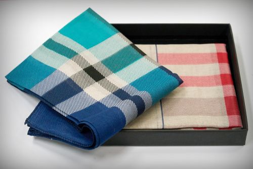 handkerchief check pattern towel