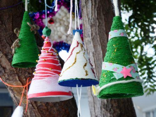 Handmade Christmas Tree Mobiles