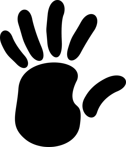 handprint fingers palm