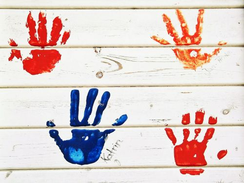 handprint hands color
