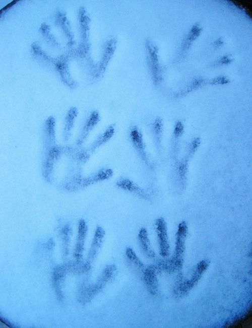 handprint cold winter