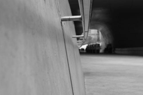 handrail tunnel wall