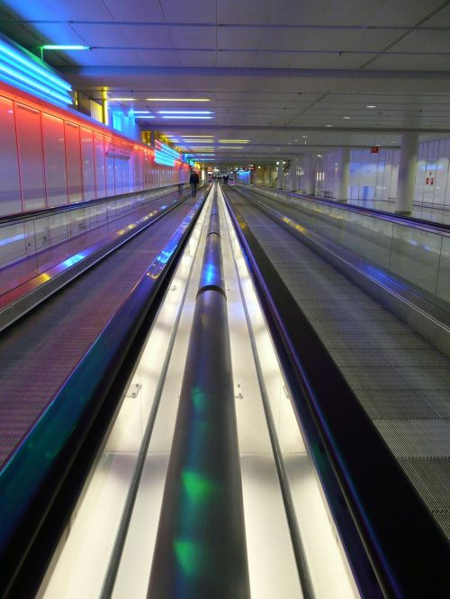 handrails moving walkway roller platform