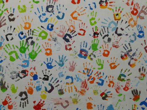hands color mural