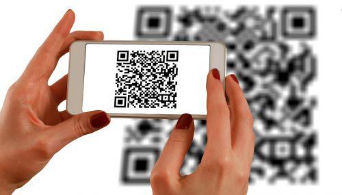 hands smartphone barcodes