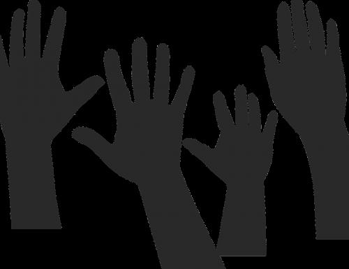 hands silhouette teamwork