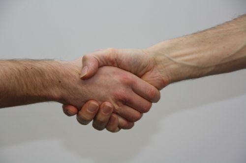 hands give shake