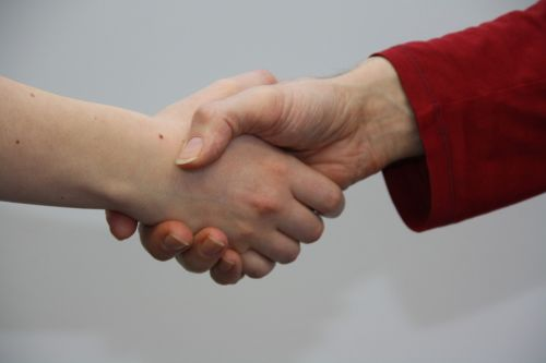 hands shake give