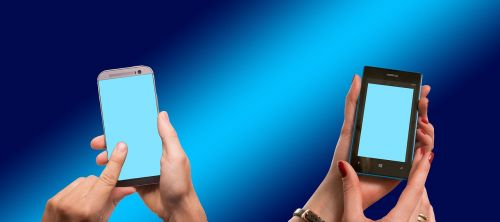 hands smartphone touch screen