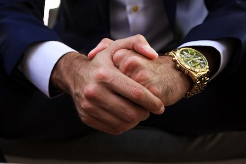 hands clock business