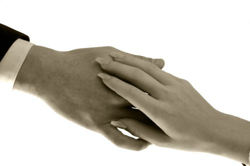 hands contact affection