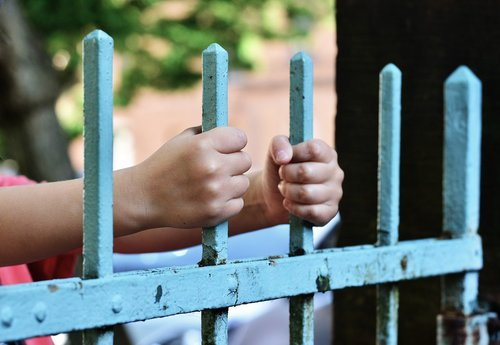 hands  fence  demarcation