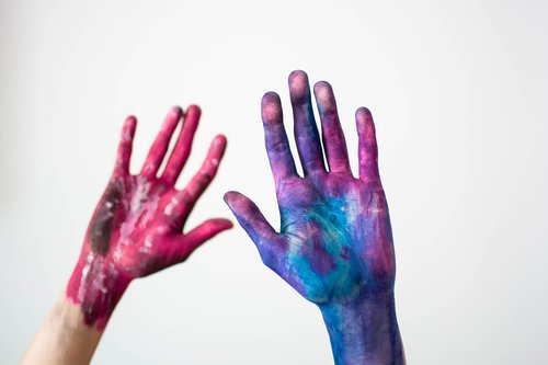 hands  watercolor  colorful