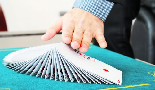 hands cards magic