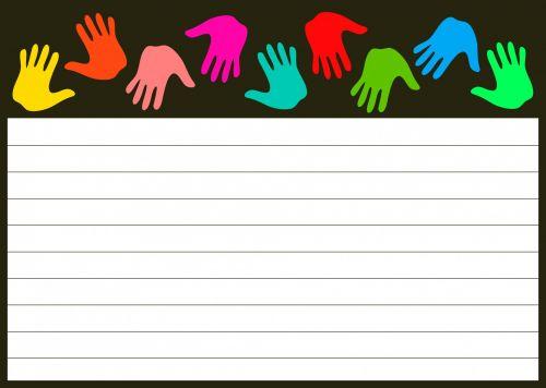 Hands Note Paper