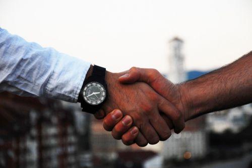 handshake business hand