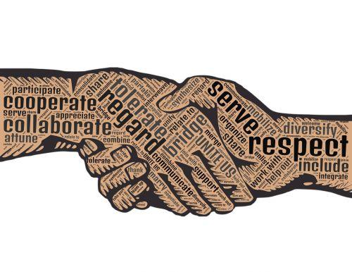 handshake regard cooperate