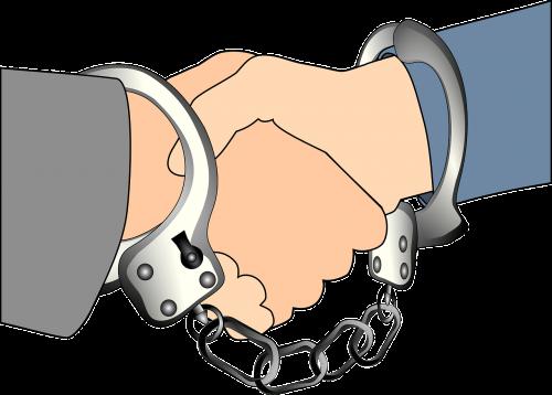 handshake handcuff union