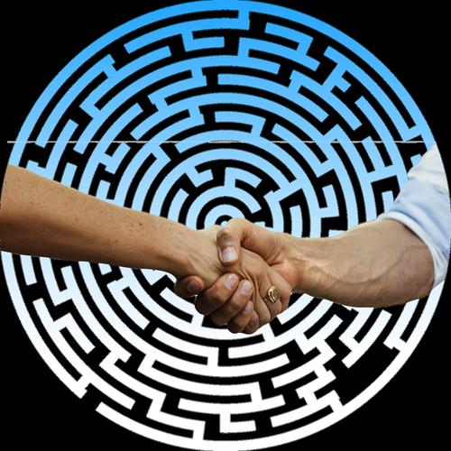 handshake  shaking hands  labyrinth