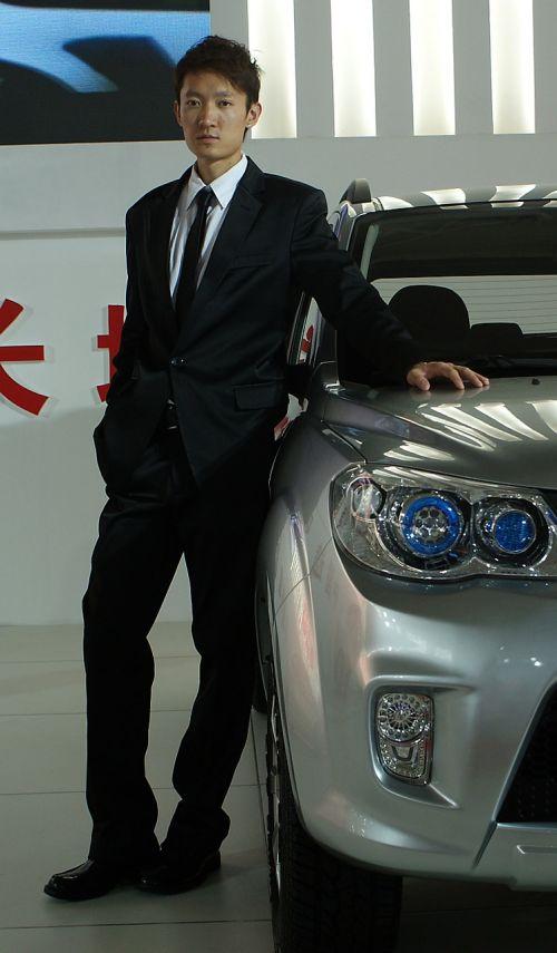 handsome guy model car