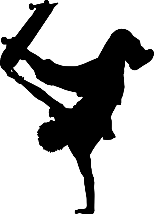 handstand  skateboard  silhouette