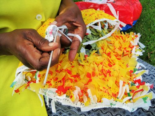 Handwork Recycling Plastic Bags