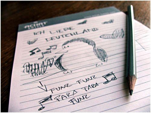 handwriting music note