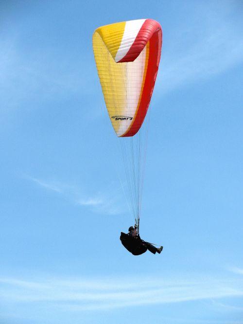 hang glider sky fly