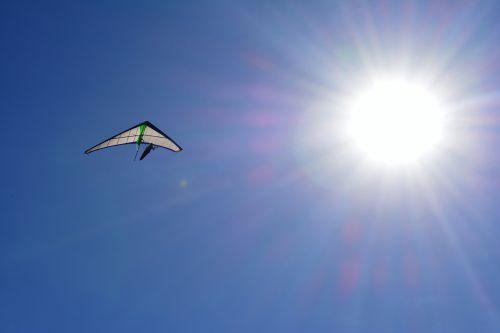 hang gliding blue sky sol