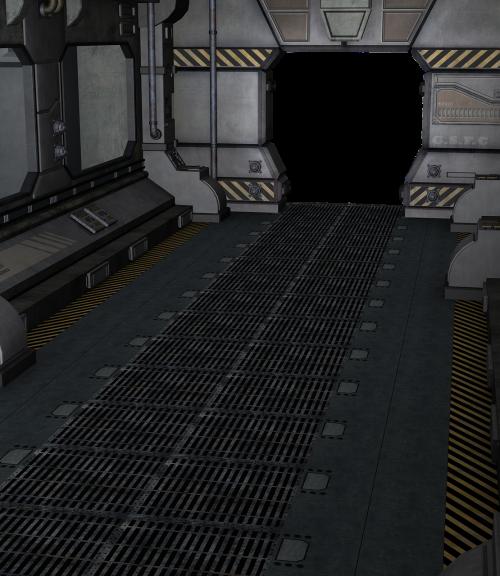 hangar spaceship modern