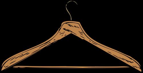 hanger wooden brown