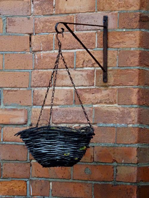Hanging Basket On Building