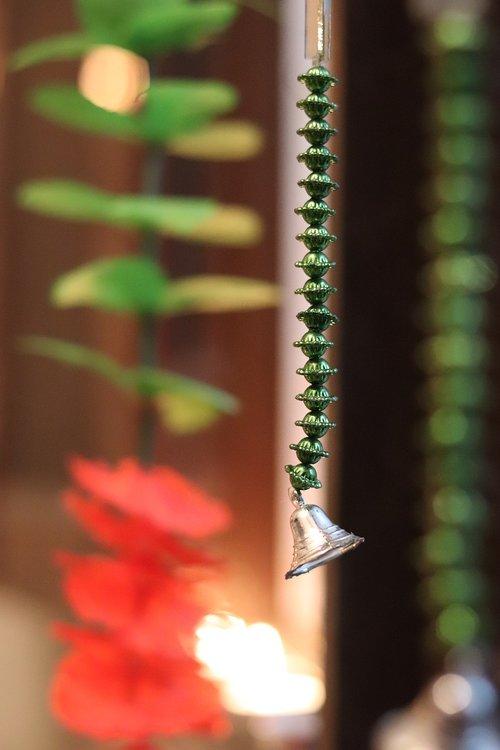 hanging bell  diwali  diwali decor