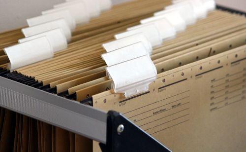 hanging files filing cabinet regulation
