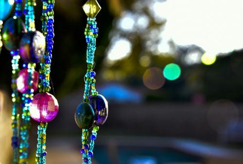 Hanging Glass Beads