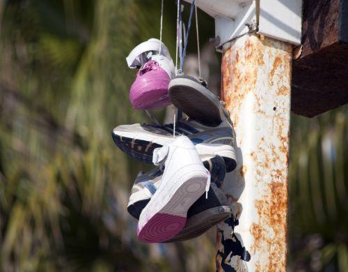 Hanging Tennis Shoes